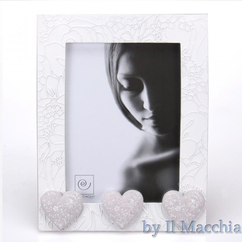 Cornice Portaritratti Mascagni portafoto con cuori