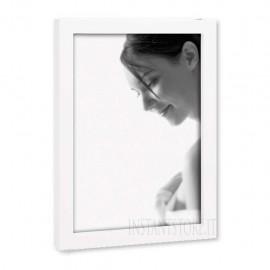 Cornice Portaritratti Mascagni 13x18 Portafoto in legno laccato bianco