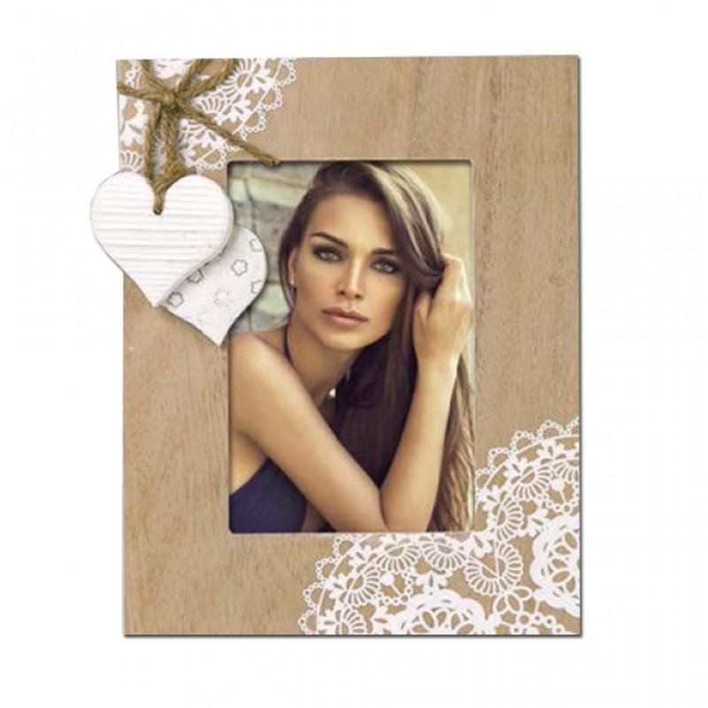 Cornice Fotografica in legno con Cuori portafoto Voiron