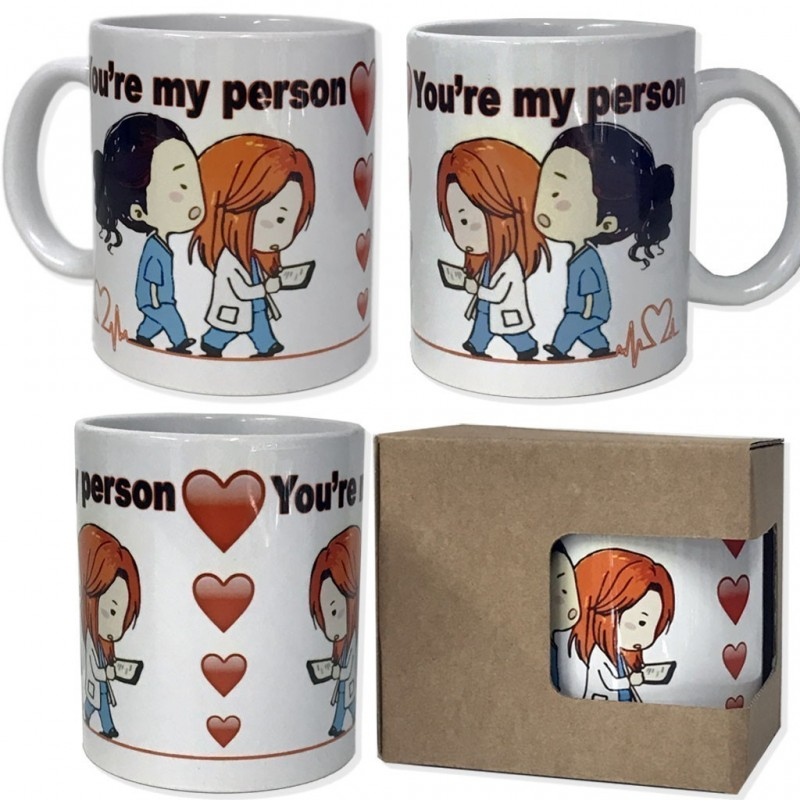 Tazza in ceramica You're my person personalizzabile classe A alimentare