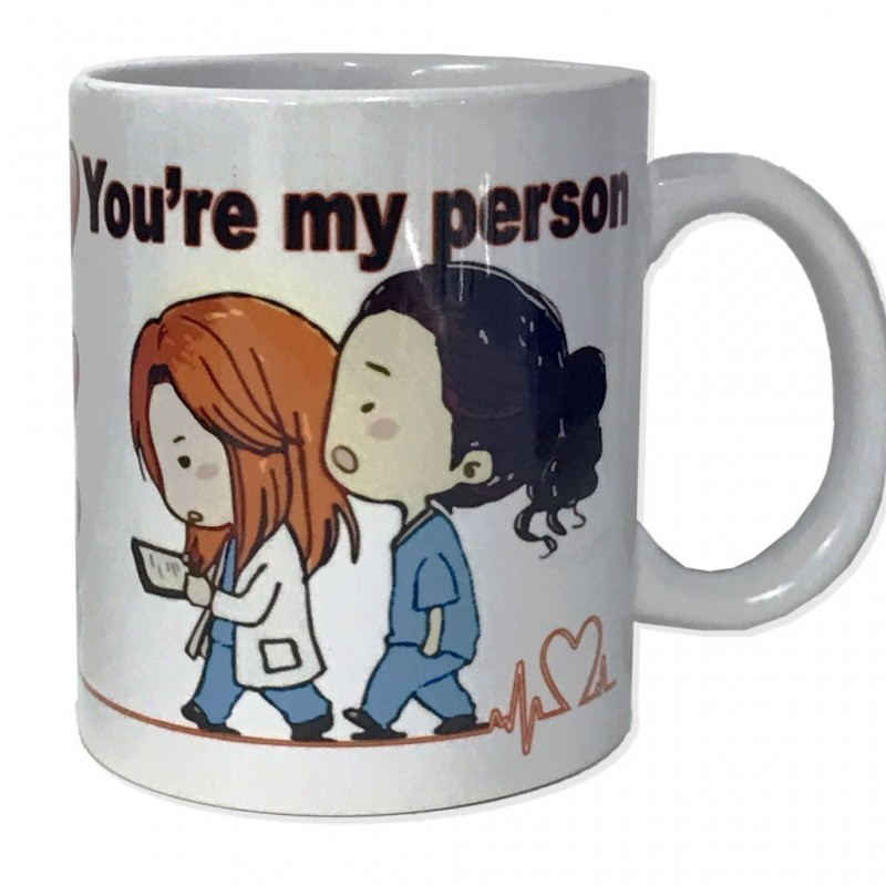 Tazza in ceramica You're my person personalizzabile classe A alimentare