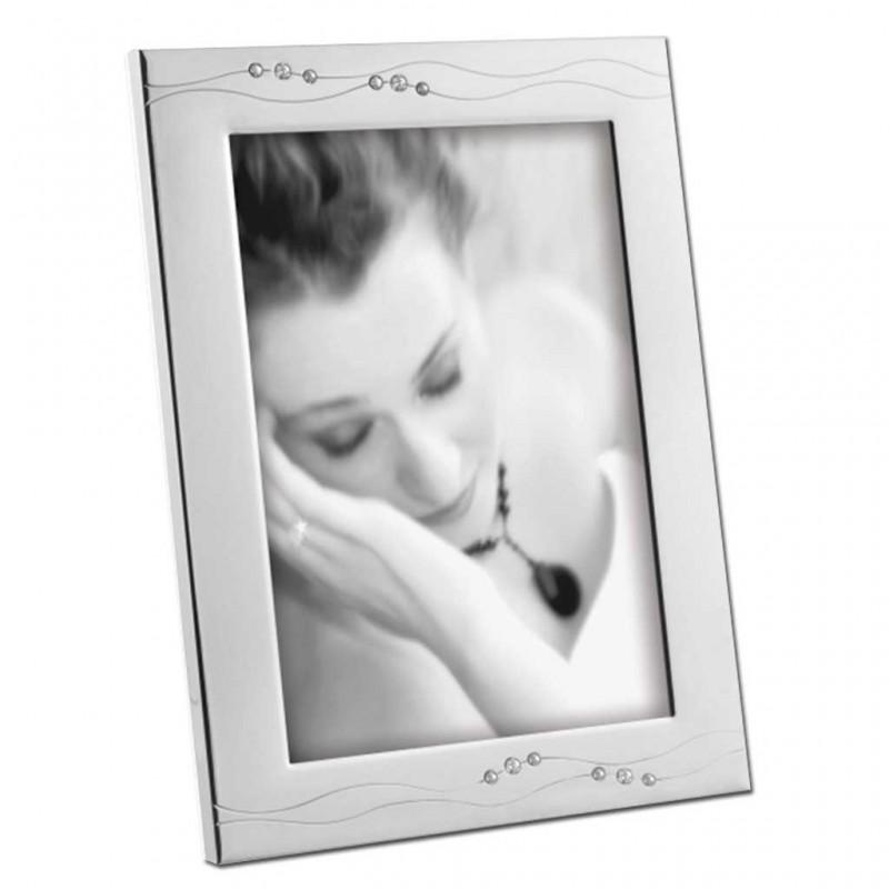 Cornice Fotografica Mascagni 13x18  A505 portafoto in Metallo con cristalli