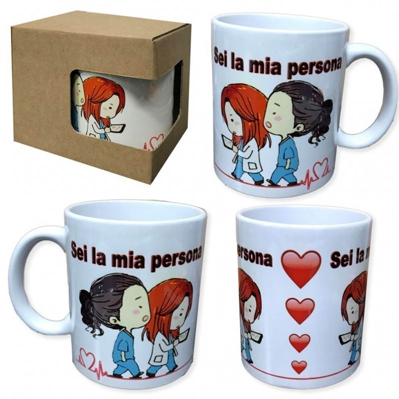 Tazza in ceramica sei la mia persona grey's anatomy you are person