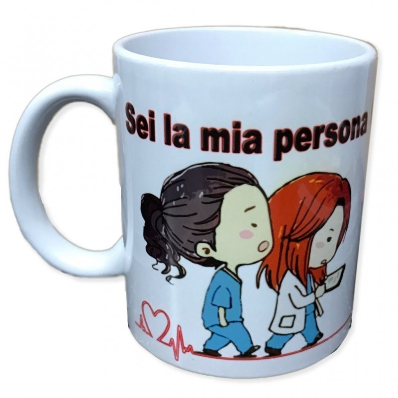 Tazza in ceramica sei la mia persona grey's anatomy you are person