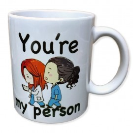 Tazza in ceramica you're my person grey's anatomy you are person forever