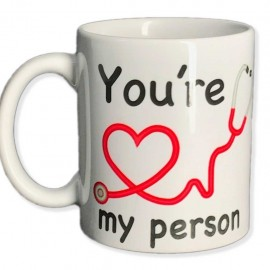 Tazza you're my person grey's anatomy you are person in ceramica