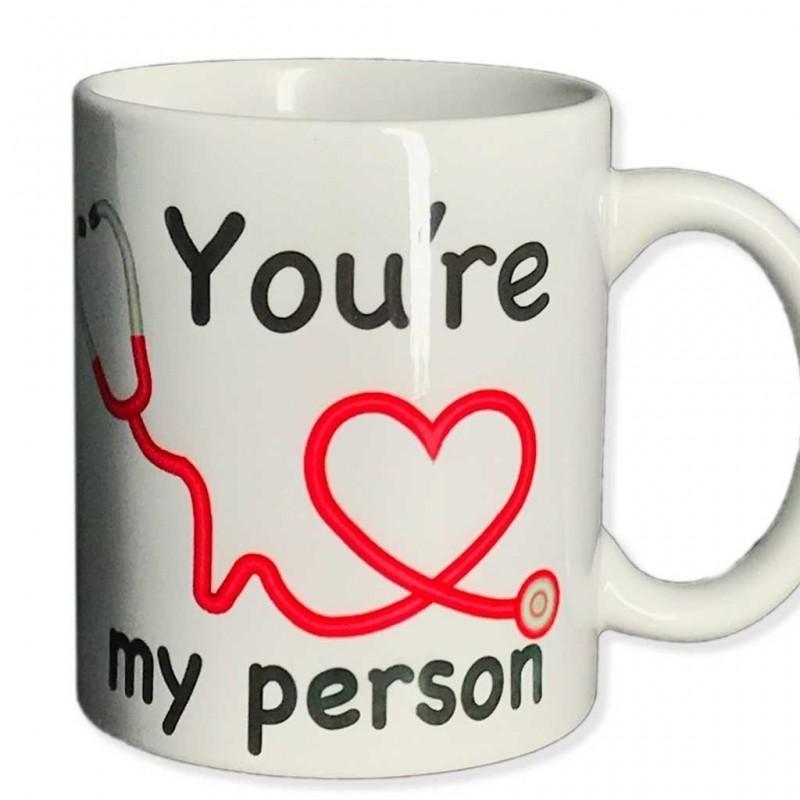 Tazza you're my person grey's anatomy you are person in ceramica