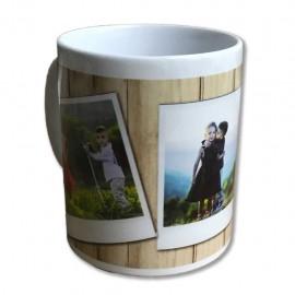 Tazza in ceramica polaroid frame idea regalo personalizzabile 3 foto