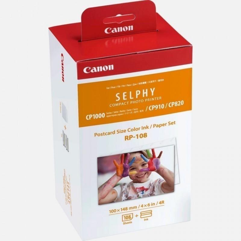 Canon RP108 Per stampante Selphy CP1200 CP910 CP1000 CP820 carta e ribon
