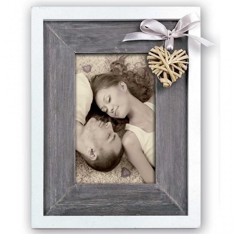 Cornice Fotografica zep Portafoto in legno con cuore 13x18 Blaye
