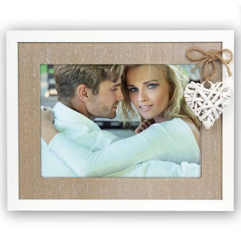 Cornice Fotografica in legno Bercy con cuore Portafoto 13x18 instantstore