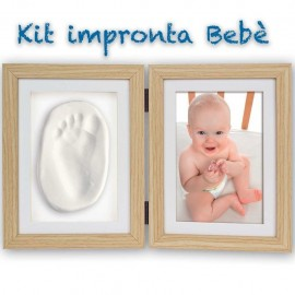 Cornice portafoto in legno con impronta bebè - Abel