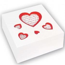 Scatola in legno porta oggetti con foto a cuore Natalia box