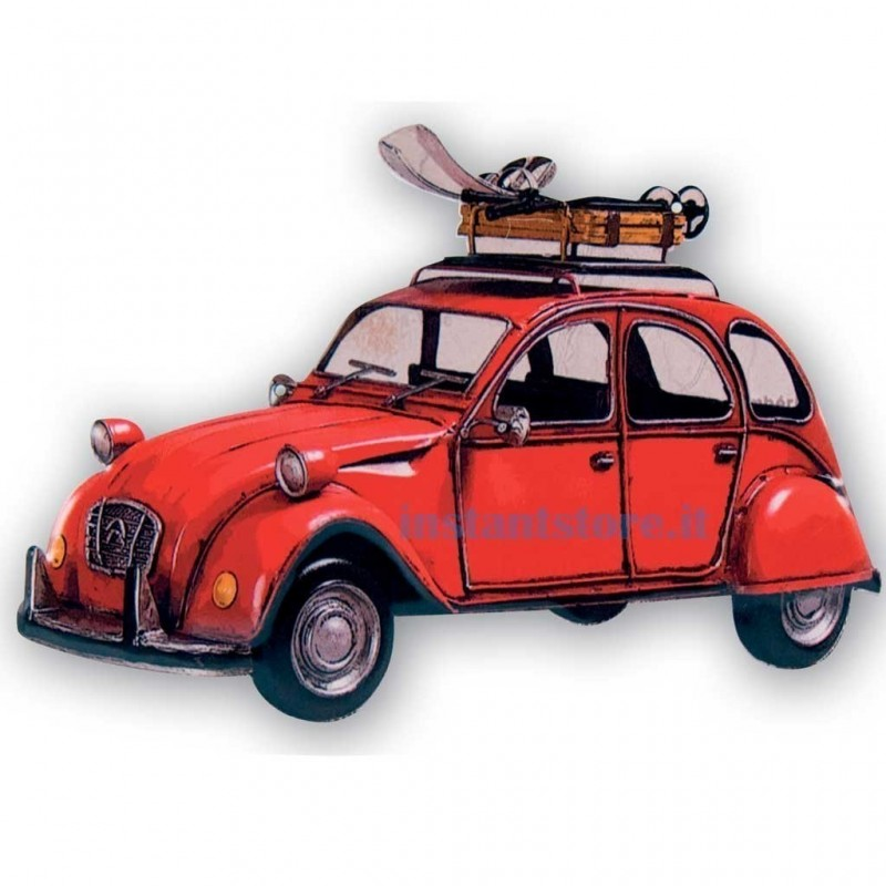 Metal Art Citroen 2cv placca in metallo vintage