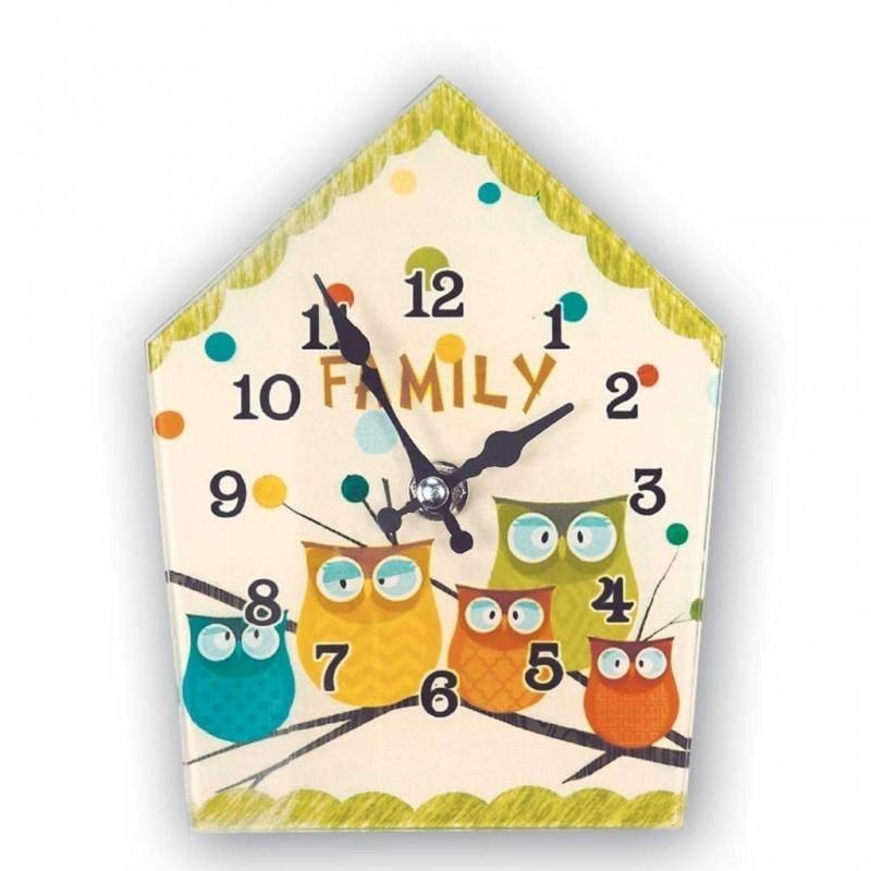 Orologio da parete in vetro Sherwood 13x17 family vintage
