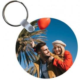 Portachiavi rotondo personalizzabile con foto a stampa sublimatica