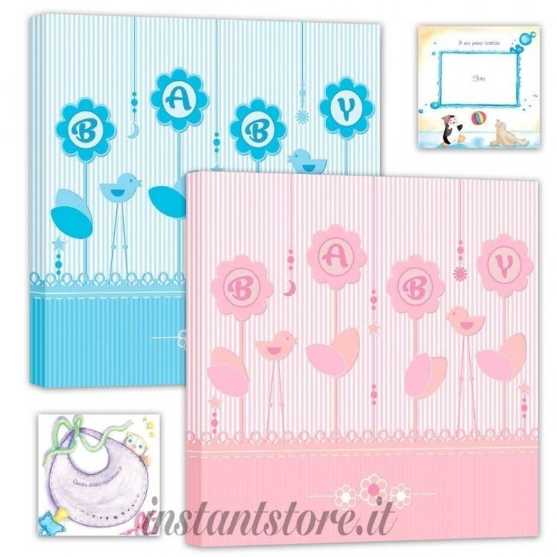 Album fotografico Baby book Portafoto con diario 30 fogli 25x25
