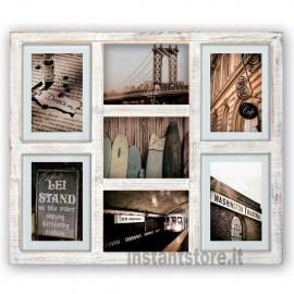 Cornice Fotografica Zep Hudson in legno 7 foto shabby