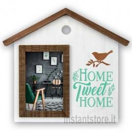 Cornice Fotografica portafoto in legno a forma di Casa per foto 10x15