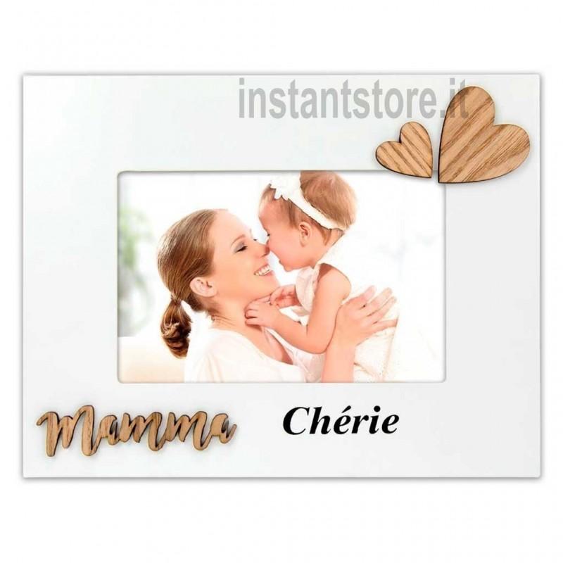 Cornice portafoto in legno mamma portafoto 10x15 Cherie