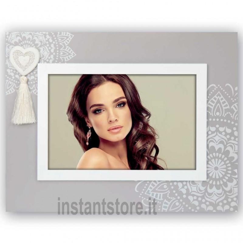 Cornice portafoto in legno Oise h portafoto 10x15 con cuore