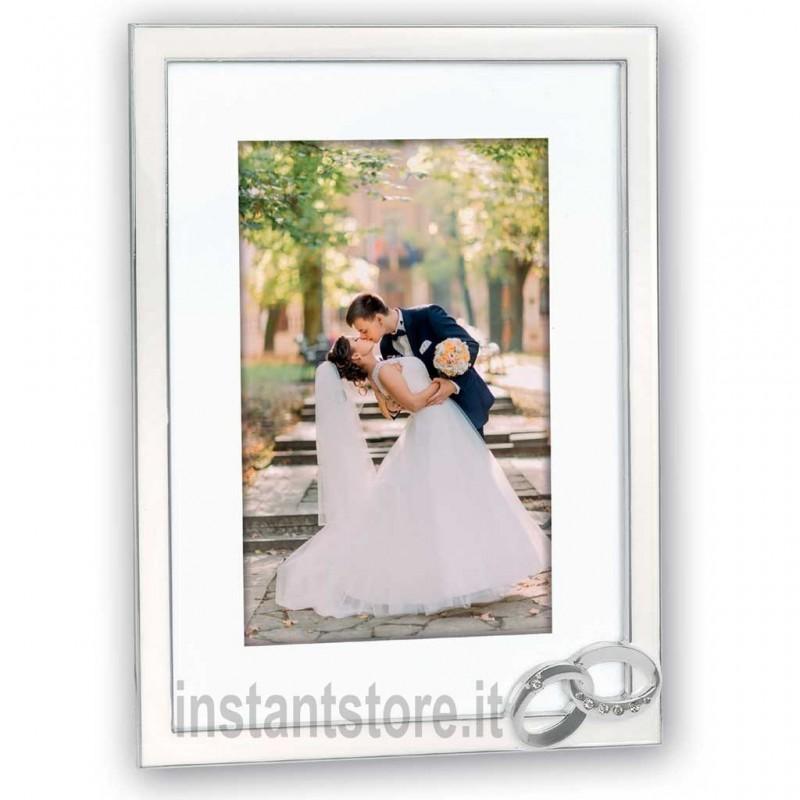 Cornice portafoto Mariage 10x15 con anelli matrimonio