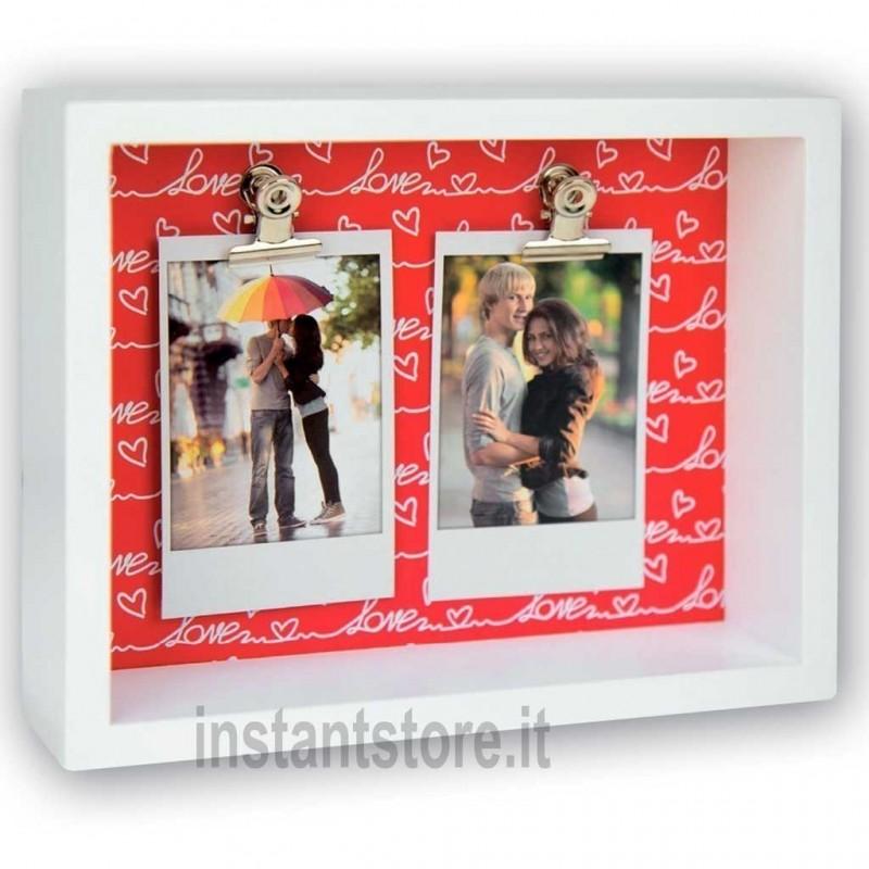 Cornice con clip portafoto per fuji instax mini Funny Love