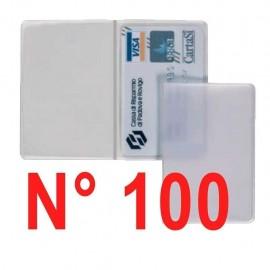 N° 100 pezzi porta patente - carte di credito - bancomat  trasparente
