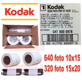 Kodak photo print Kit per stampante 305 / 6R Kiosk 640 foto