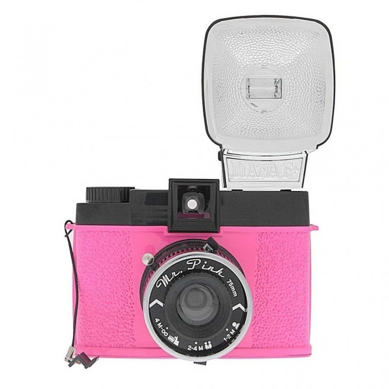 Lomography Diana F+ Mr Pink medio formato lomo con flash rosa