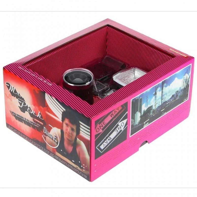 Lomography Diana F+ Mr Pink medio formato lomo con flash rosa