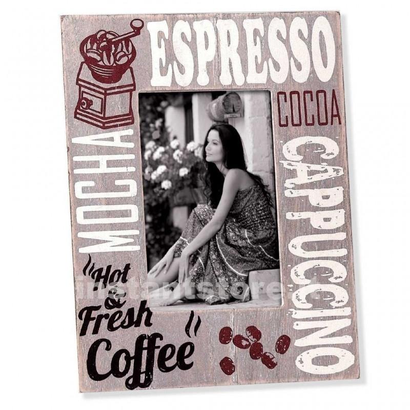 Cornice fotografica 13x18 Zep in legno portafoto Espresso