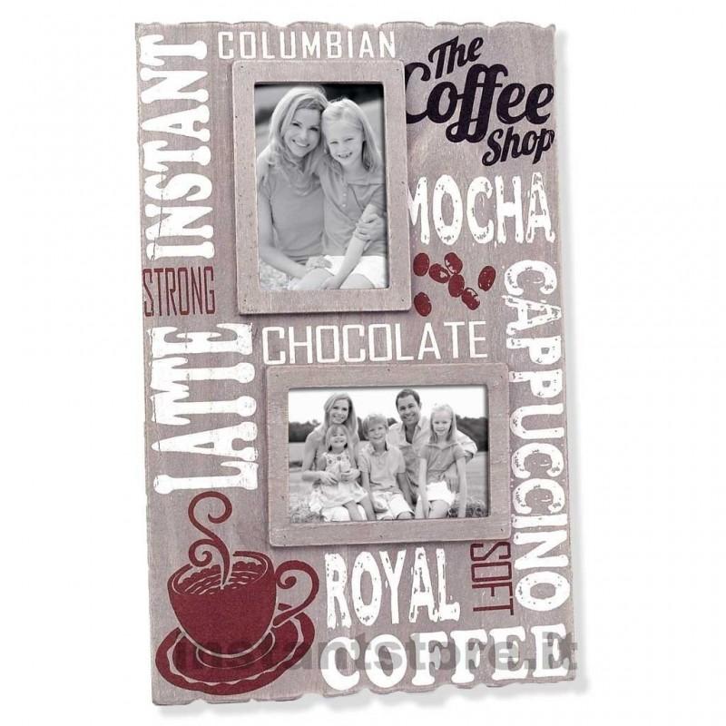 Cornice fotografica 2 foto 10x15 Zep in legno portafoto Royal coffee