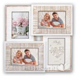 Cornice fotografica in legno 4 foto 10x15 Portafoto multipla ZEP Molveno