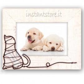 Cornice portafoto in legno per cuccioli 10x15 Attila