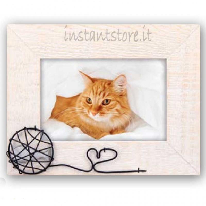 Cornice portafoto in legno per Gattini 10x15 Molly