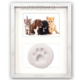 Cornice portafoto in legno per cuccioli con impronta Gand