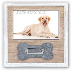 Cornice portafoto in legno 10x15 per cuccioli 10x15 con nome Linus