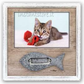 Cornice portafoto in legno 10x15 per gattini 10x15 con nome Hella