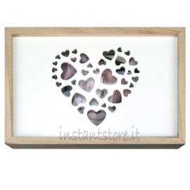 Scatola in legno per foto 13x18 e Pennetta usb - Zep love box usb
