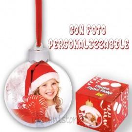 Pallina Natalizia con 2 foto personalizzabili Addobbi albero di natale sf105