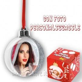 Pallina Natalizia con foto personalizzabile Addobbi albero di natale sf105s