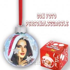 Pallina Natalizia con 2 foto personalizzabili Addobbi albero di natale sf14s