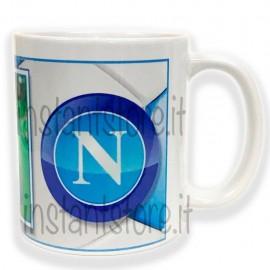 Tazza in ceramica squadra del cuore personalizzata con foto - Napoli