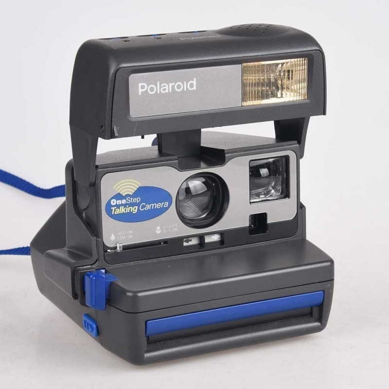 Polaroid 600 modello One step Talking Camera - parlante Testata