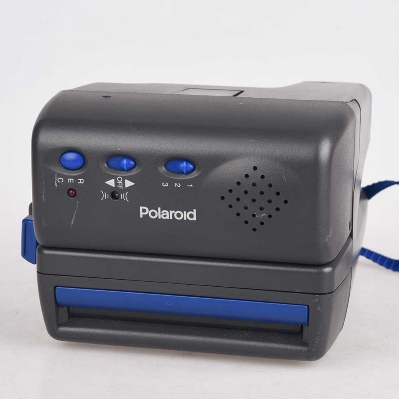 Polaroid 600 modello One step Talking Camera - parlante Testata