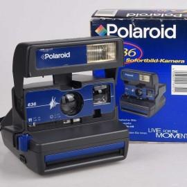 Polaroid 636 Blu in confezione pari al nuovo serie 600