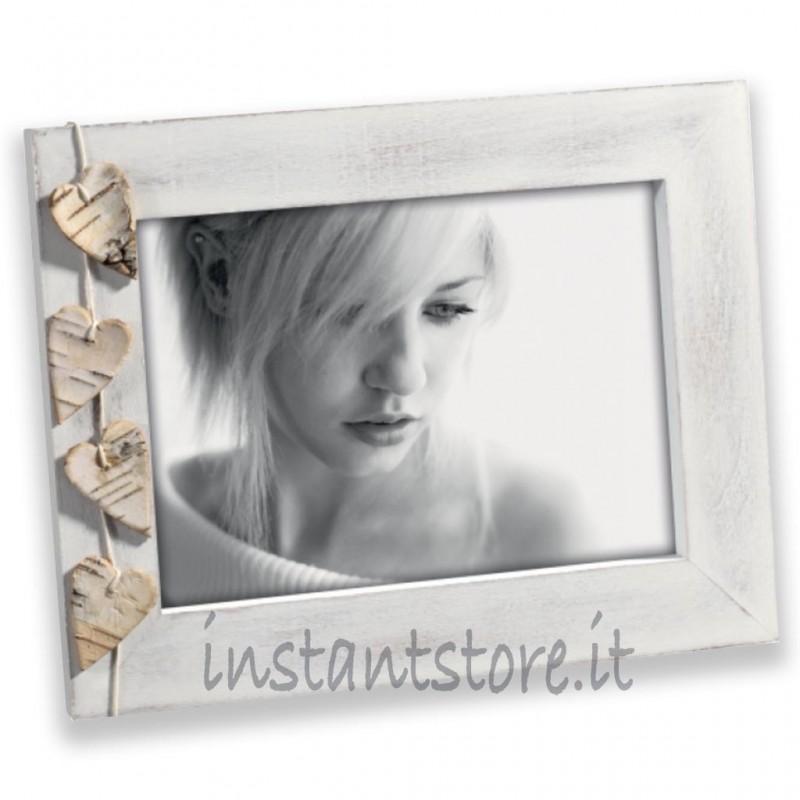 Cornice Portafoto in legno 13x18 Mascagni A456 con cuori Styled by Felix