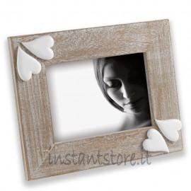 Cornice Portafoto in legno 13x18 Mascagni m888 con cuori in resina