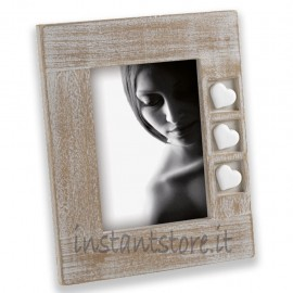 Cornice Portafoto in legno 13x18 Mascagni m887 con cuori in resina